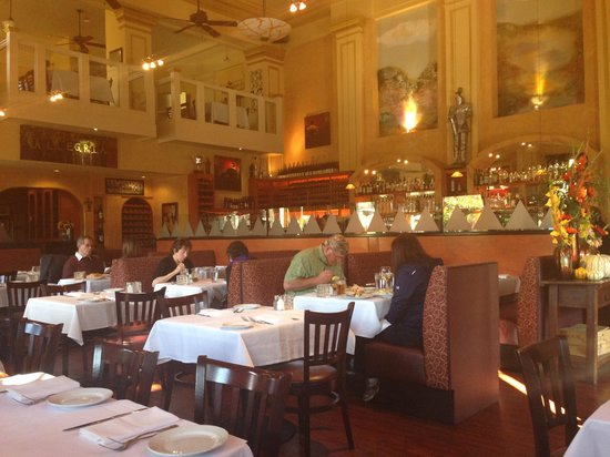 Ristorante Allegria : Inside the restaurant (remodeled bank)
