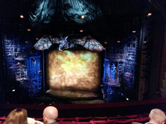 Wicked the Musical: The view before the show starts is exciting