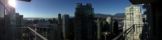 Vancouver Extended Stay: The view from our balcony