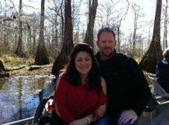 Champagne's Cajun Swamp Tours: a warm 65 degrees in January