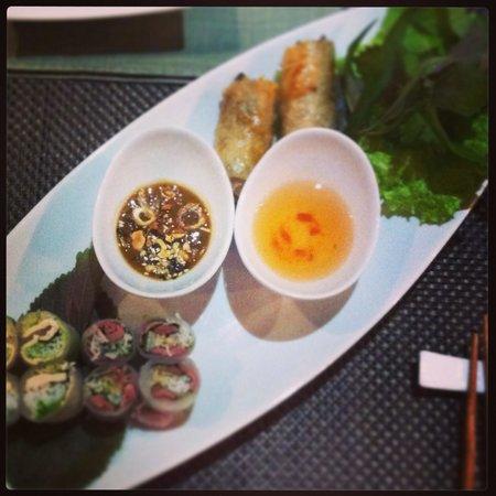 Saigon Pantheon : Les entrées pour le menu duo.