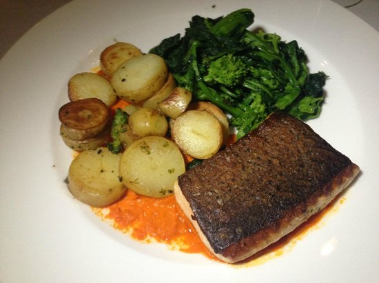 The Surrey: Salmon. Would've been perfect had salmon not been overcooked. Should specify medium rare next ti