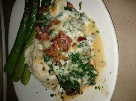 Bonefish Grill: Grilled salmon with gorgonzola and bacon
