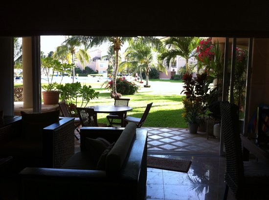 Villas Del Mar : View to patio from kitchen of E 103