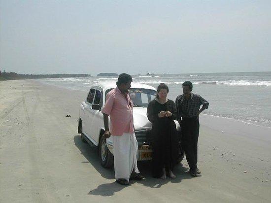 Muzhappilangad Drive-in Beach : Enjoying the Drive-in Beach - Kannur - North Kerala