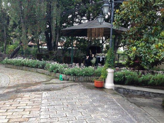 Hacienda Uzhupud: Jardín