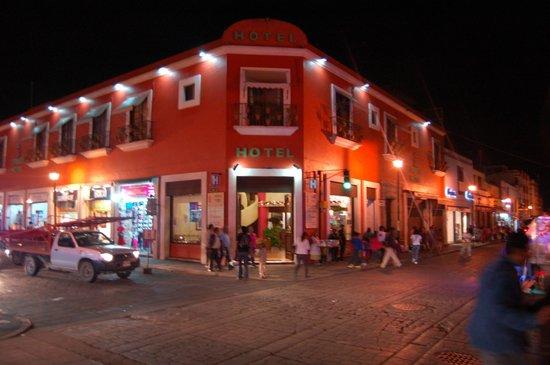 Hotel Trebol at Night