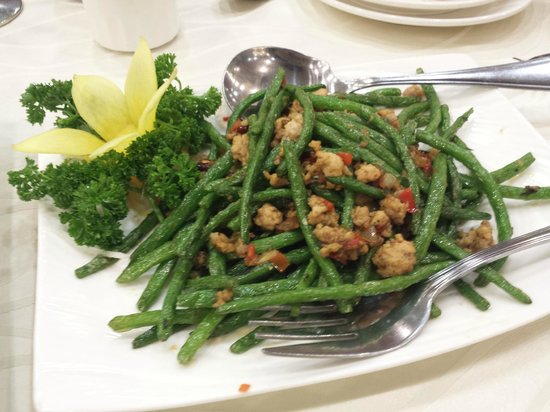 King Chef Seafood Restaurant: Beans with Minced Meat