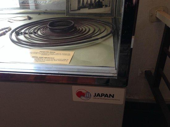 National Museum : 展示ケースは日本のODA