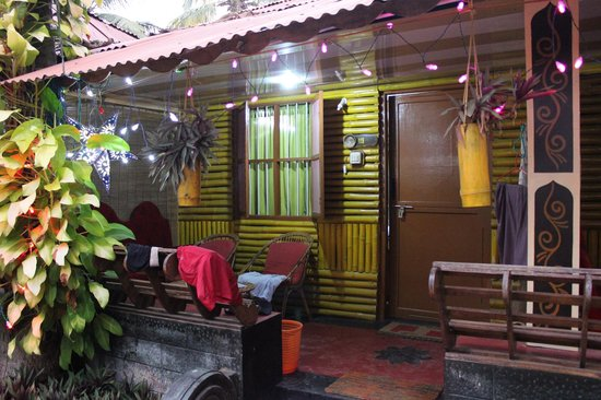 Kerala Bamboo House: with pretty fairy lights on
