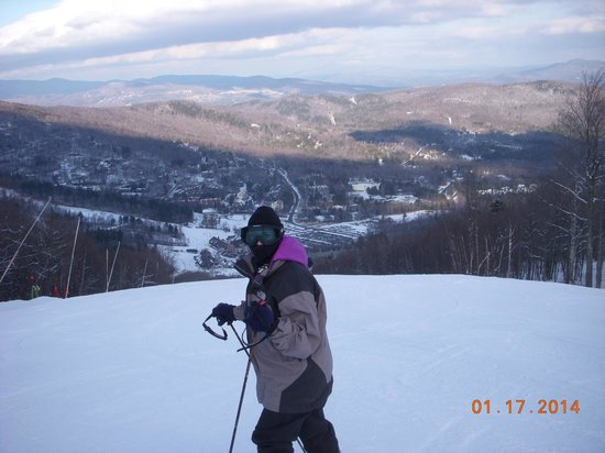 Sugarbush Mountain Ski Resort: Jaclyn on Snowball at Sugarbush