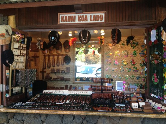 Koa Wood Jewelry: Kauai Koa Lady Shop in Old Koloa Town