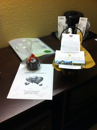 Country Inn & Suites By Carlson, Niagara Falls, ON : So thoughtful!