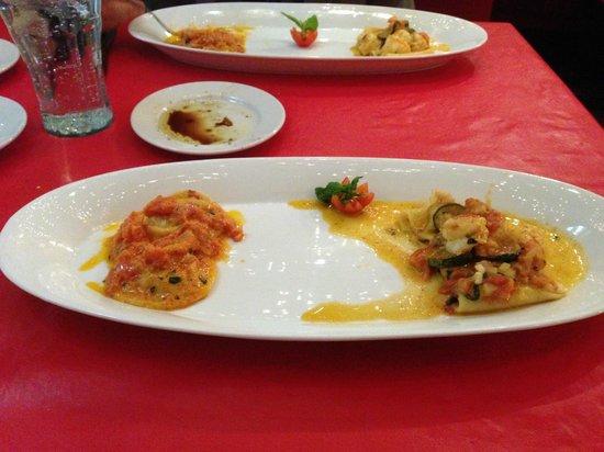 Il Basilico Trattoria Italiana: Paccheri di Gragnano with Shrimp and Zucchini and Lobster Ravioli