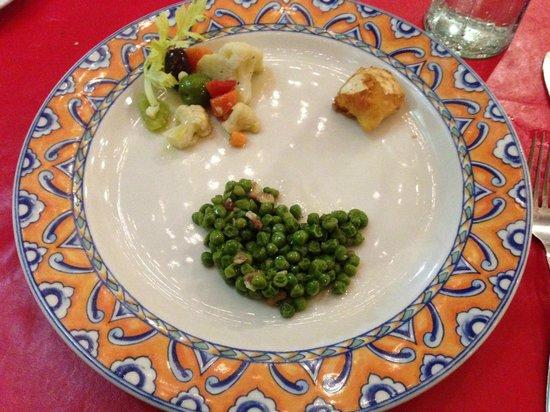 Il Basilico Trattoria Italiana: Grilled Cuttlefish with peas, Fried Salt Cod , Cauliflower, anchovies, oli