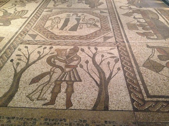 The Museum of Somerset: Roman mosaic floor