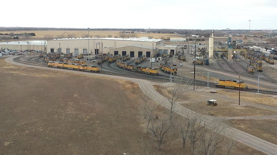 Union Pacific Railroad Bailey Yard: Diesel Shop View from the Tower