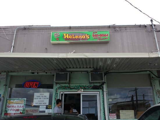 Helena's Hawaiian Food: Restaurant Front