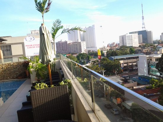 The Cocoon Boutique Hotel : view from roofdeck