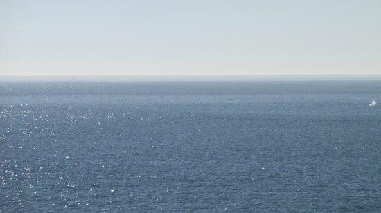 Yaquina Bay Lighthouse : Whale spout to the far right.  Seen from the Lighthouse