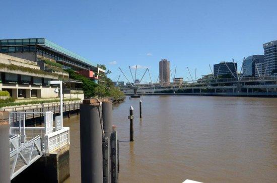 Mirimar Cruises: Mirima docking place in Brisbane, next to State Library
