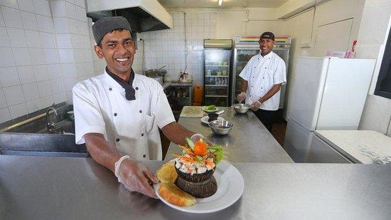 Aquarius On The Beach: Chefs In Kitchen
