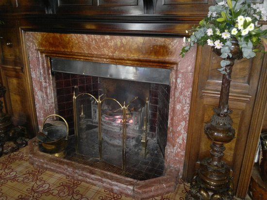 Armathwaite Hall Hotel & Spa: fireplace in the lounge