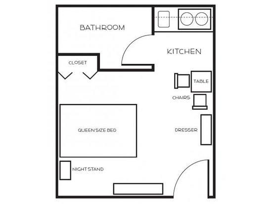 Legacy Suites - Tolleson : Studio Suite - Floor Plan