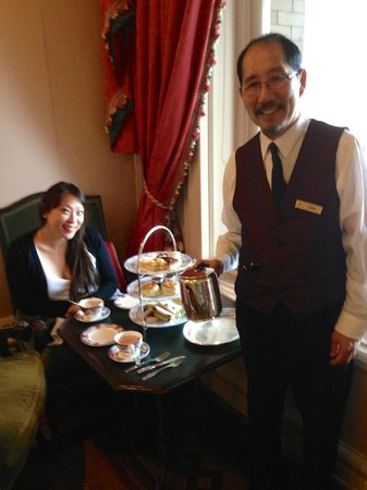 The Fairmont Empress: Our lovely waiter at the 'high tea'.