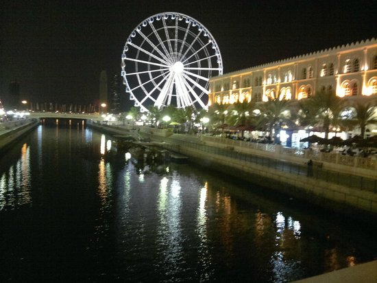 Fish Corner Restaurant : Al Qasba Canal, Sharja, viewed from Fish Corner R
