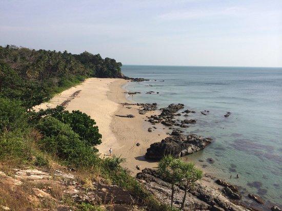 Diamond Cliff beach : Вид пляжа сверху