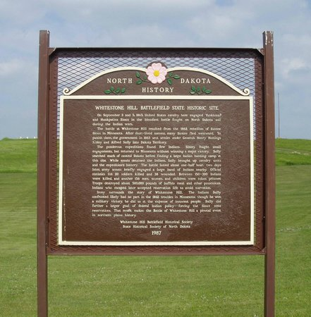 Whitestone Hill Historic Site: Whitestone Battlefield Interpretative Sign - Dickey County, North Dakota