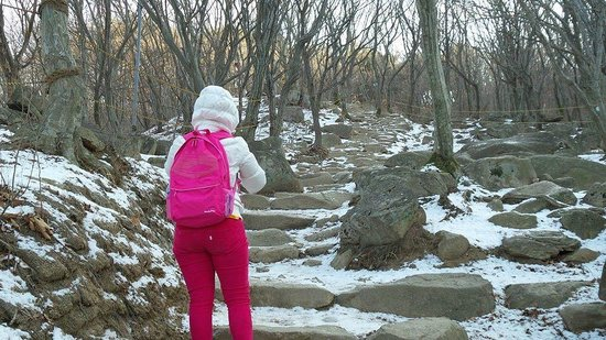 Beomeosa-Tempel: watch out for icy steps