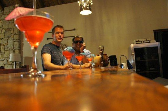 Botsebotse Luxury Retreat: Cocktails at the bar