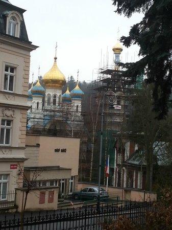 Hotel Smetana-Vysehrad: Aussicht auf die Russisch Ortodoxe Kirche
