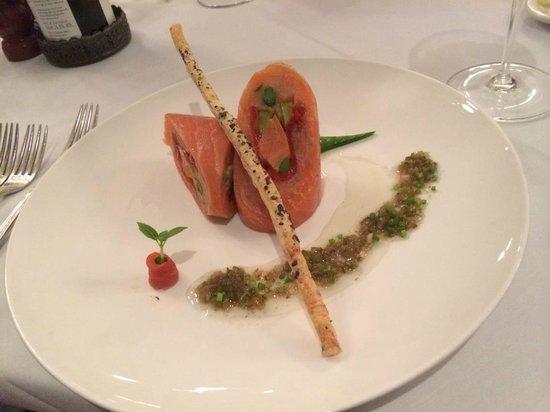 Friends Restaurant: The salmon entree
