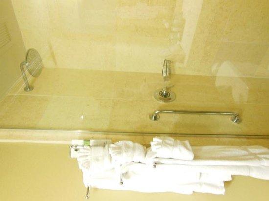 Hotel Blake Chicago : シャワールーム かわいいタオル