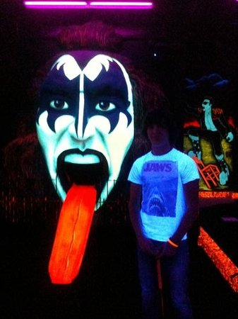 Kiss Monster Mini Golf: our son Brad, who is a big fan of Kiss