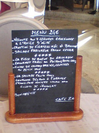 Auberge Bourrelly : Menu