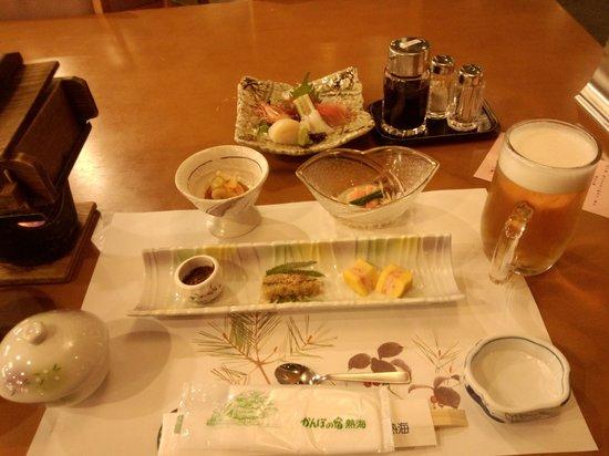 Kanpo no Yado Atami : 夕食です。