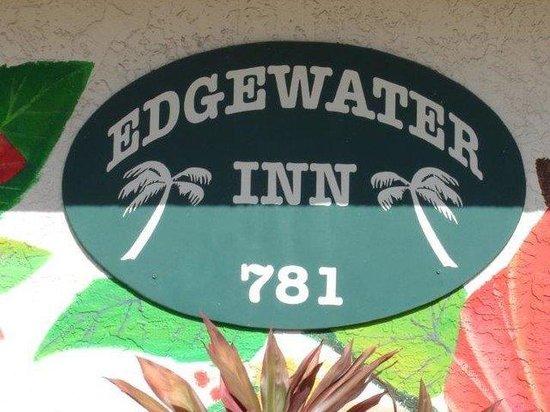 Edgewater Inn Fort Myers Beach: Building Sign