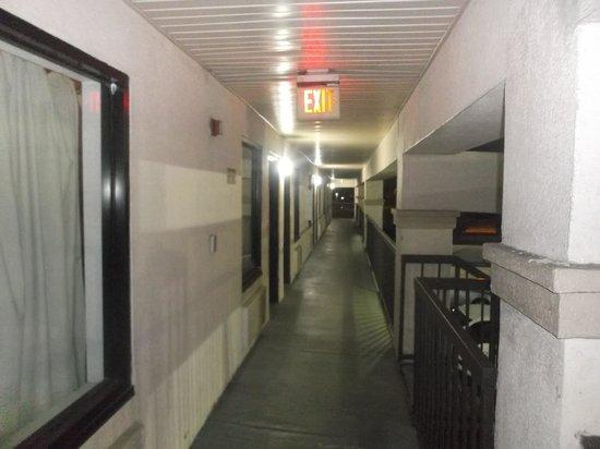 Econo Lodge: Au deuxième étage - 16 janvier 2014.