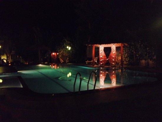 Hotel Chandrika: Pool at night