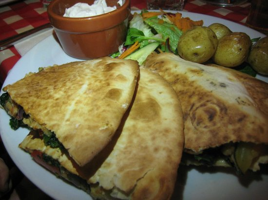 Fat Freddy's: Vegan Quesadills's in the flesh!