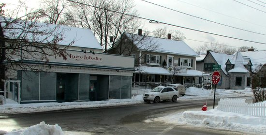 Acadia Hotel looking from the Village Green