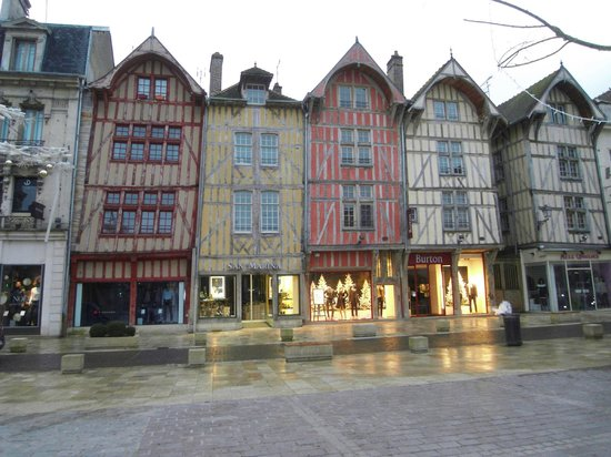 Ibis Budget Troyes Centre : A typical street in Troyes historic centre