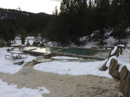 Gold Fork Hot Springs: The pools cascading down to one another.