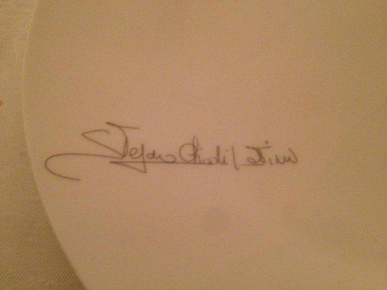 Villa Somis : Piatto firmato
