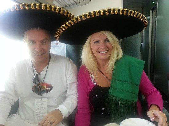 Tequila Express: Photo op - Fun on train