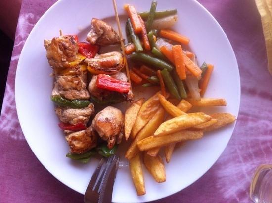 Auberge Keurmariguen: brochette de poulet miam